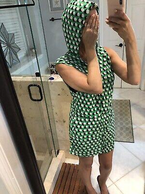 Dvf x Roxy Bikini Dress Hooded Cover Up Green Print - Roxy Print Bikini