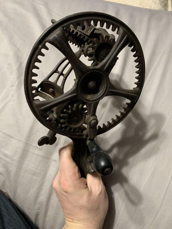 Vintage Antique Reading Hardware Ornate Cast Iron Apple Peeler Reading, PA 1878