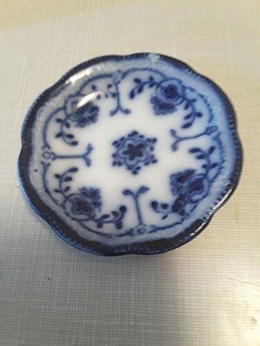ANTIQUE FLOW BLUE BUTTER PAT   #13