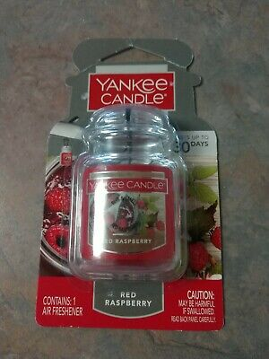 Yankee Candle Car Jar Ultimate Air Freshener Red Raspberry New