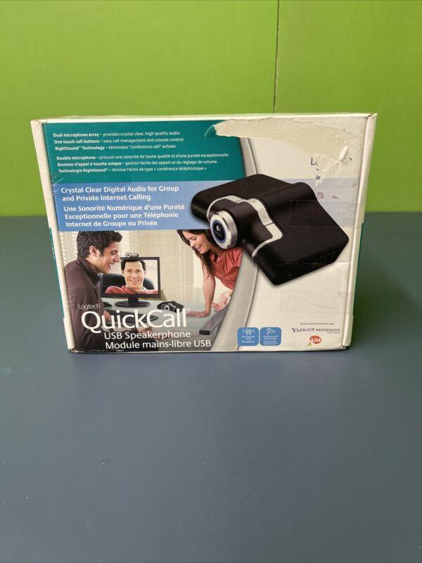 Logitech Usb Speakerphone Quickcall New Ud58 Ad648 Internet Communications Quick