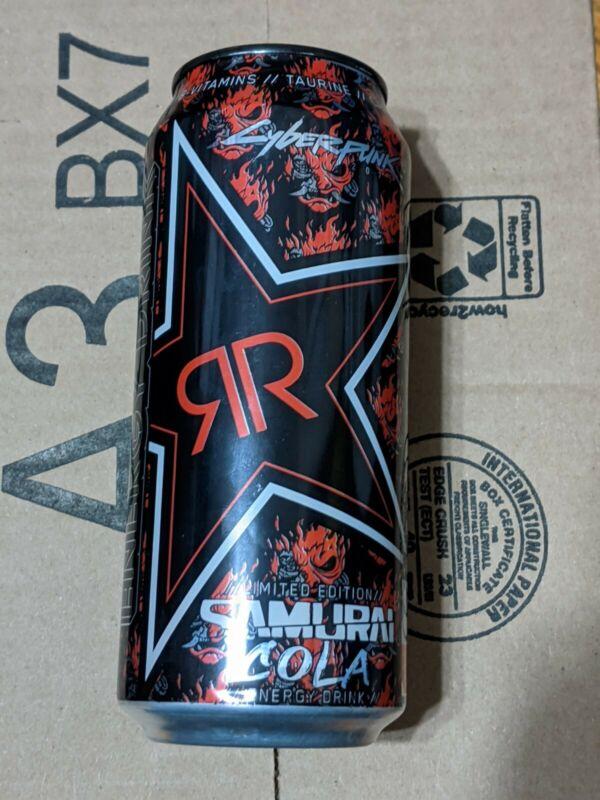 Rockstar - Cyberpunk 2077 Samurai Cola Sealed Can Rare Promo / limited edition