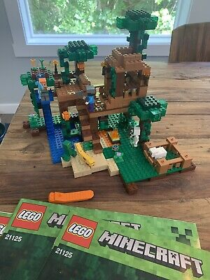 Lego 21125 Minecraft Jungle Tree House-EUC- Missing One Piece. 100% Complete