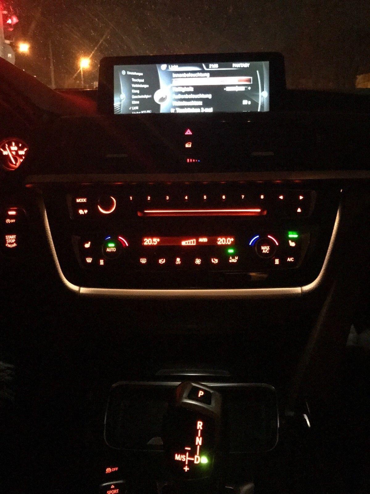 Original BMW 4er F32 F33 F36 F82 F83 M4 Blende Klimabedieneinheit beleuchtet LED