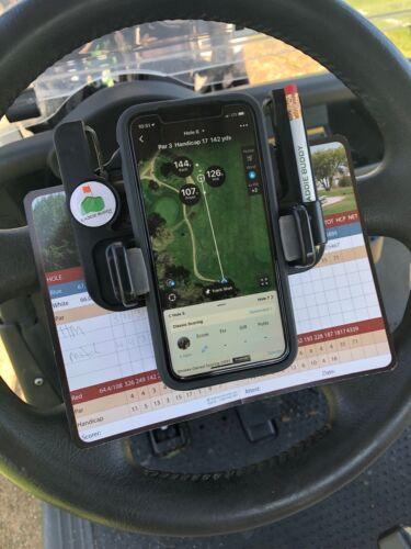iPhone Golf Cart Mount/Scorecard Pro/Steering Wheel Phone Mount