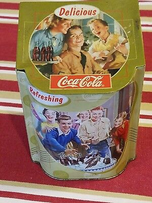 Delicious Coca Cola Coke Soda Pop 1999 Tin Box with Hinged Lid