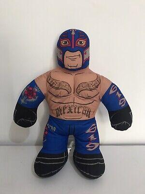 """Mattel WWE Brawlin' Buddies Rey Mysterio Talking Mexican Plush Toy 16"""" Figure"""