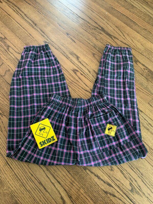 Vtg Skidz Pants Purple Plaid RARE NEW WITH TAGS 80s 90s Mens Large Skate Surf