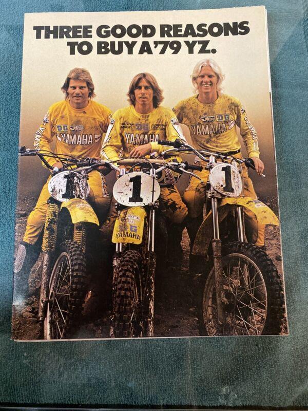 NOS 1979 Yamaha YZ Three Good Reasons Fold Out Sales Brochure Poster Bob Hannah