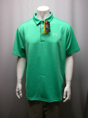 NWT UNDER ARMOUR HEAT GEAR GOLF POLO LOOSE MEN GREEN SHIRT 2XL (NEW WITH DEFECTS