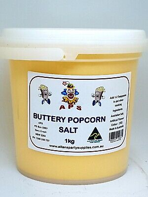 Buttery Popcorn Salt, Seasoning Salt, Bulk, Resealable Tub 1kg, Free Postage,