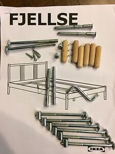 IKEA FJELLSE queen bed frame delivery