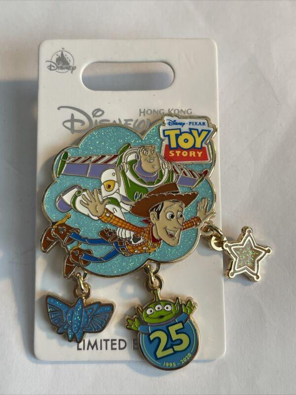 Disney HKDL Hong Kong Disneyland 25th Anniversary Toy Story Pin LE 600 Dangle
