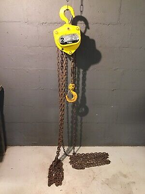 Yale 2 Ton 4000 Lb Manual Chain Hoist Model Shop King Sha 15 Ft Chain