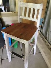 Shabby beachy wooden bar stool one Parkwood Gold Coast City Preview