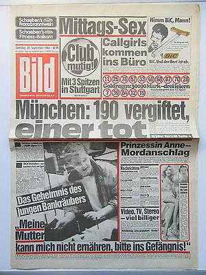 Bild Zeitung vom 22.9.1984, Ingrid Steeger, Kay Parker, Geburtstagsgeschenk