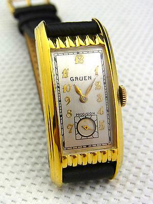 schöne alte Armbanduhr Gruen Precision Cal.500 Top Zustand
