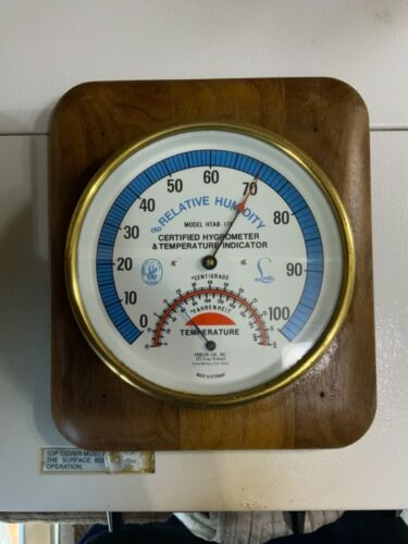 Abbeon HTAB-176 Hygrometer And Temperature Dial Indicator Brass Case German Made