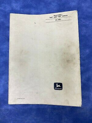John Deere Parts Catalog For 420 430 Series Tractor Pc505