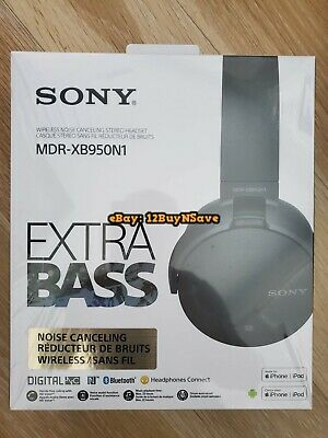 Sony XB950N1 Extra Bass Wireless Noise Cancelling Over-the-Ear Headphones Black
