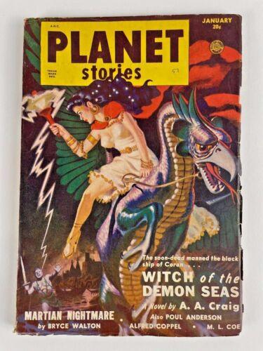 PLANET STORIES JAN 1951, vol 4, #10, Anderson, Craig, Walton, Lang, Coppel +