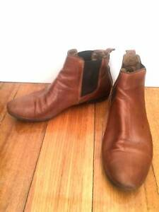 8de07639a14f Wittner ankle boots   47  tan leather - Size 38