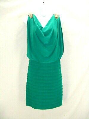 Scarletts Green Dress (NWT Scarlett Nite 16~Stunning Green Stretch Tiered Pleat Beaded Cocktail Dress~v )