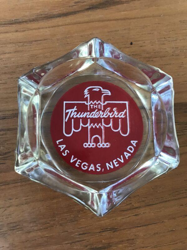 Vintage Thunderbird Hotel Las Vegas Glass Ashtray