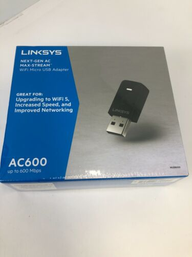 Linksys - Next-Gen AC Dual-Band AC600 USB Network Adapter - Black