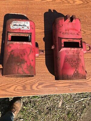 Lot Of Two Mueller Indicator Post Parts Rusty Salvage Reuse Cast Iron