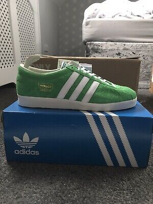Adidas Gazelle Vintage UK 10 US 10.5 Green White BNIB EF5577 Dublin London Malmo