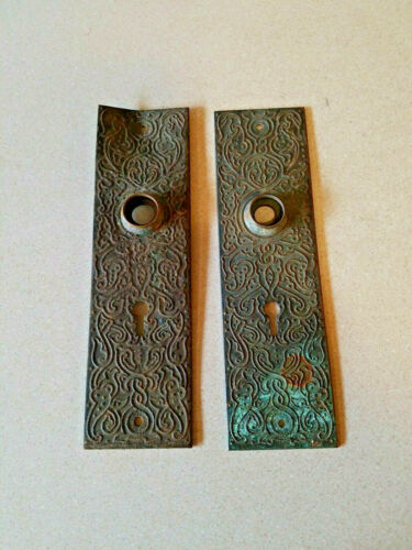 ANTIQUE BRASS BACK PLATES WITH KEYHOLE L3