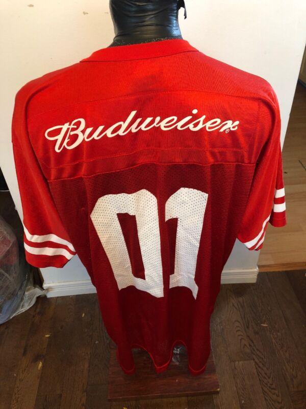 MENS XXLarge Football Jersey Budweiser Beer #01