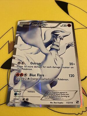 POKEMON RESHIRAM BLACK AND WHITE 113/114 - FULL ART ULTRA RARE HOLO