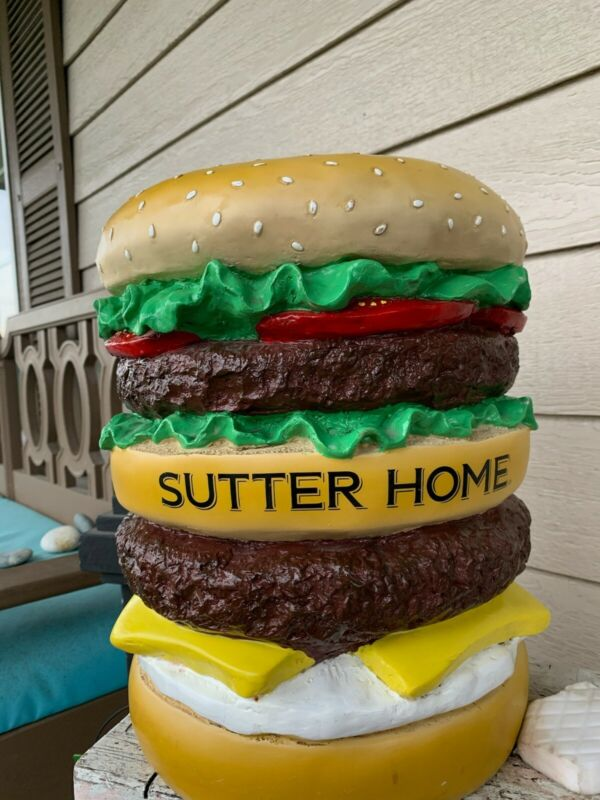 Sutter home wine display cheeseburger from great big stuff