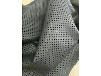1.5 oz 10 Sq.Ft Italian Sheepskin Leather Skin Hide Soft Pure Black