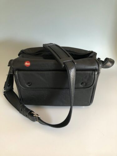 Leica Camera Bag Leather for Two M6 Bodies NICE