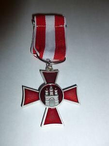 HANSEATIC CROSS  HAMBURG  FOR MERIT IN WAR GERMAN WW1 MEDAL REPLICA/COPY C/W PIN