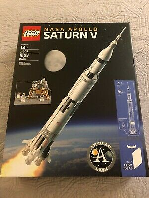 LEGO Ideas NASA Apollo Saturn V (21309) - Perfect Condition - Retired Set