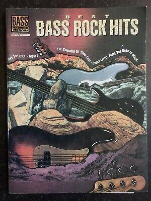 - BEST BASS ROCK HITS 11 Classic Songs - Bass Guitar TAB Songbook Sheet Music 1991