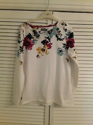 Ladies Joules long sleeved floral top size 12