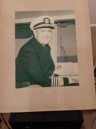 USS ENTERPRISE ADM. GEORGE W. ANDERSON JR. PHOTO + TYPED LETTER, COLD WAR CUBA