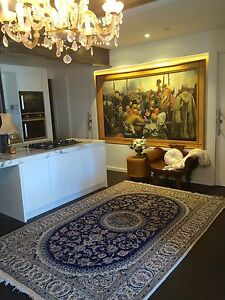 LARGE Vintage Persian NAIN SILK & WOOL HANDMADE RUG- 308.203 Surry Hills Inner Sydney Preview