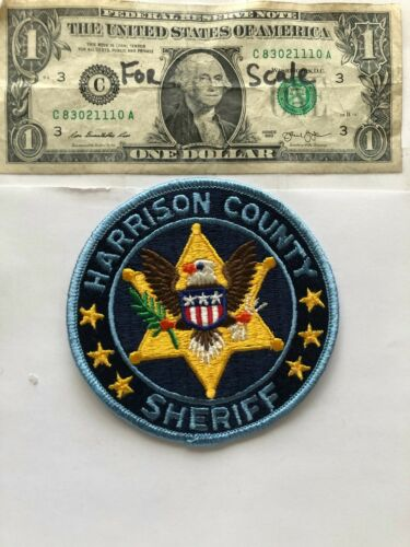 Harrison County Mississippi Police Patch Sheriff Un-sewn great condition