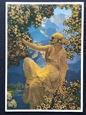 Blank Art Note Card FLORAL MAIDEN Parrish NOS Pleiades Press #158 angel goddess