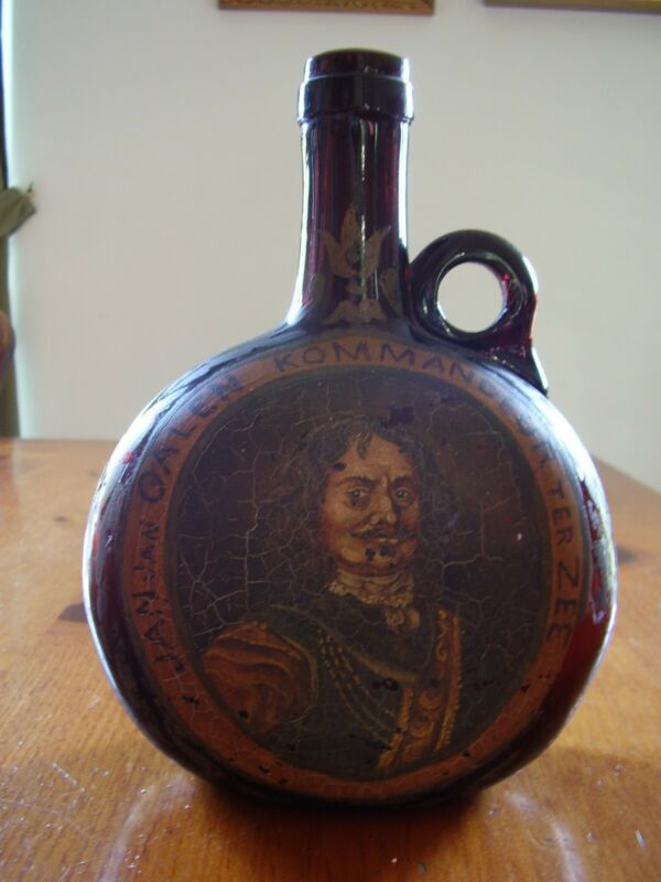Painted Chestnut Dutch19th century bottle