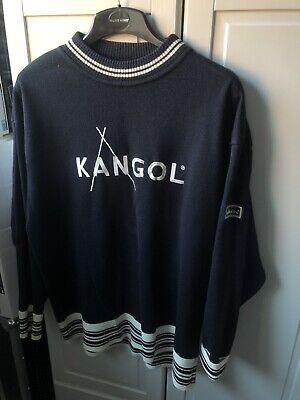 Vintage kangol cotton jumper (navy & White) Large