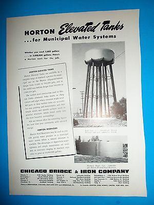 1948 Wc Ad Chicago Bridge   Iron Water Tank South Gate California Hermosa Beach