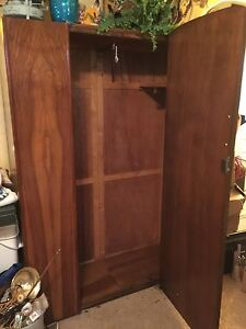Beautiful full size Mahogany wardrobe Strathcona County Edmonton Area image 2