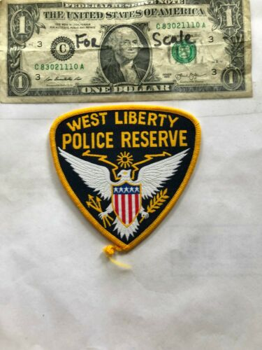 Rare West Liberty Iowa Police Patch (Police Reserve) Un-sewn in great shape